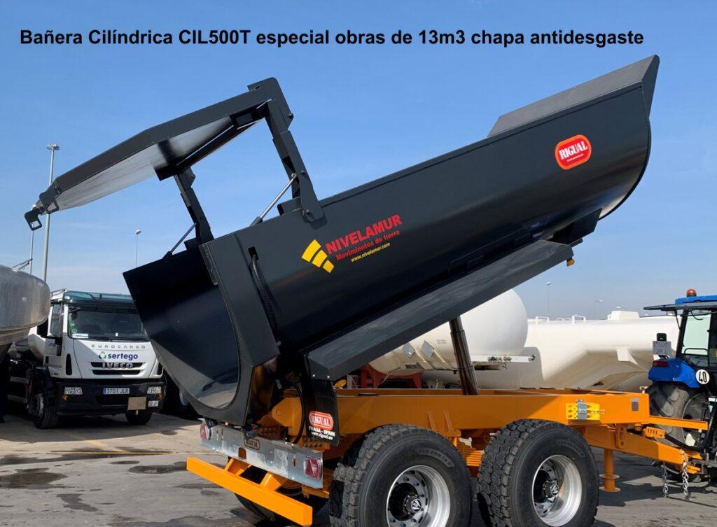 Bañera Cilíndrica rigual CIL-500 especial obras de 13m3