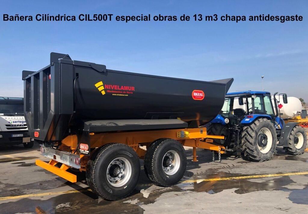 Bañera rigual Cilíndrica CIL500T Especial Obras Chapa antidesgaste